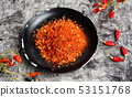 Grounded red pepper in a bowl 53151768