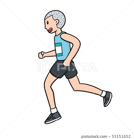 vector of man running 53151852