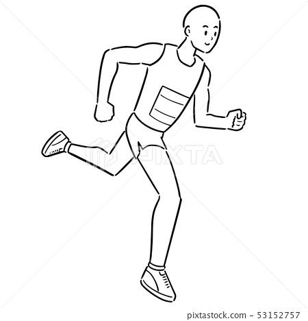 vector of man running 53152757