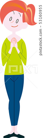 Woman standing pose full body 53160955