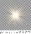 Golden glowing lights 53161705
