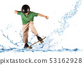 skater in balance on the water 53162928