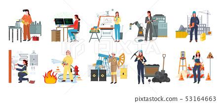 Modern Women, Fire Fighter and Designer Workman 53164663