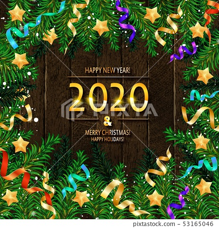 2020 Happy New Year and Merry Christmas 53165046