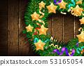 Christmas border from christmas wreath 53165054