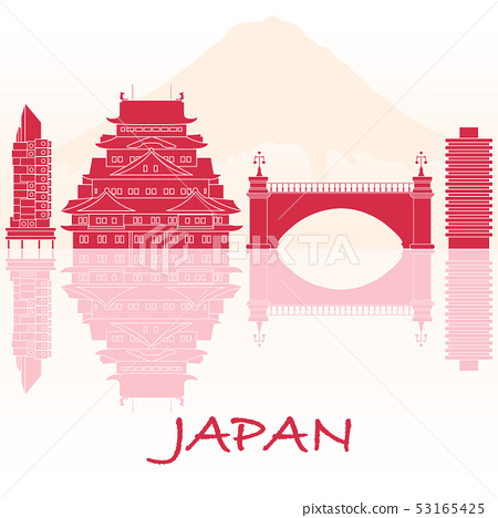 Japanese architecture Mount Fuji. 53165425