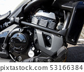 Close-up photo of motorcycle bike 53166384