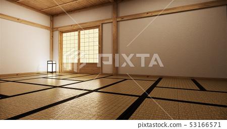 interior design,modern living room with tatami mat 53166571
