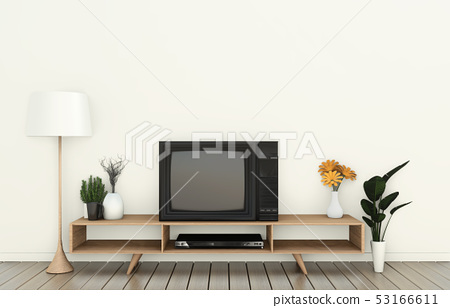 Tv cabinet in modern empty room Japanese 53166611
