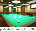 Billiard room in classical style with wooden 53167202