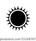 Black sun icon. 53168767