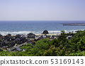 岛根县出云出云阿贡从奉献山公园看到朝向稻浜滨的都市风景 53169143