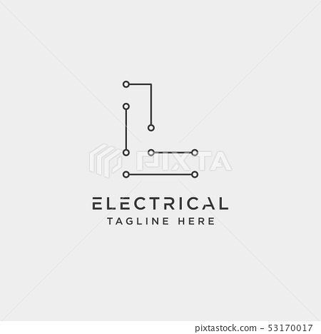connect or electrical l logo design vector icon 53170017