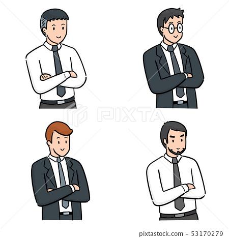 vector set of businessman 53170279