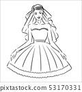 Vector illustration concept of Bride icon illustration on white background 53170331