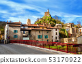 Champeix town in Auvergne, France 53170922
