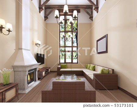 The Interior Is Modern English Style With A Stock Illustration 53173101 Pixta