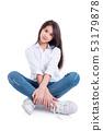 Full length of pretty asian female teenager 53179878