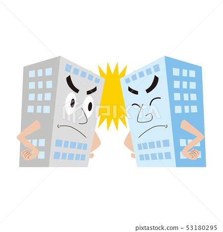 라이벌 기업 경쟁 경쟁 회사 일러스트 53180295
