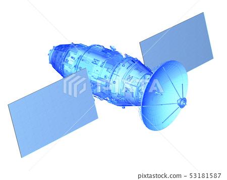 Satellite dish wireframe 53181587