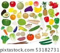 水果和蔬菜的插图集 53182731