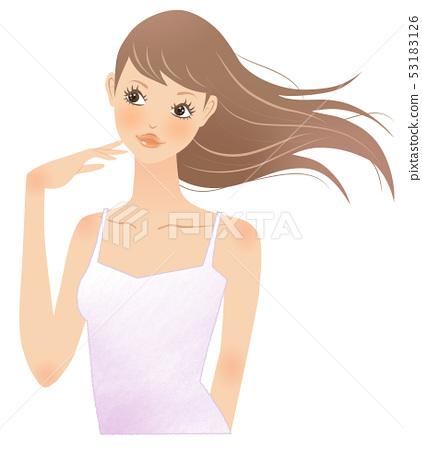 護髮紫色吊帶背心 53183126