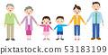 握手的三代家庭的例證 53183199