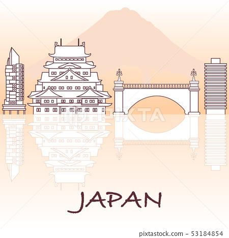 Japanese architecture Mount Fuji. 53184854