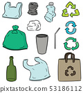 vector set of recycle item 53186112