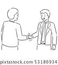 vector set of handshake 53186934