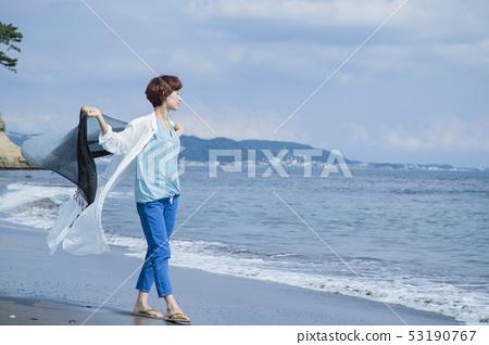 走的海灘海邊海灘海岸旅行觀光的海邊放鬆 53190767