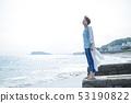 바다 산책 여자 모래 해안 여행 관광 해변 휴식 53190822