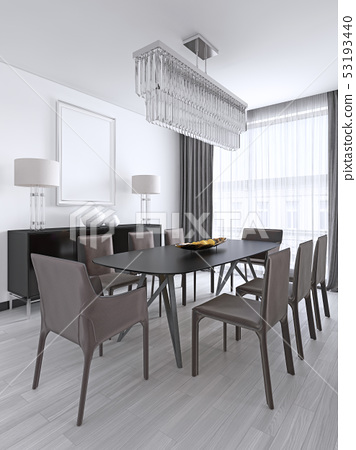 Dining table in a studio apartment in the 53193440