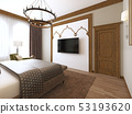 Bedroom in a middle eastern arabic style. 53193620