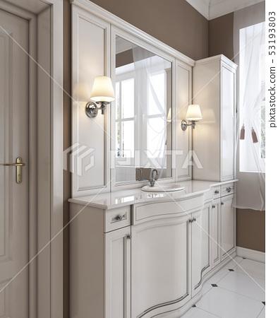 Beautiful white vanity, contemporary classic 53193803
