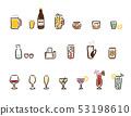 귀여운 술 세트 53198610