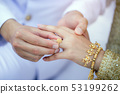 Thai Couple at wedding day are wearing ring. 53199262