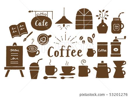 커피와 카페 갈색 53201276