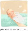 목욕하는 아기 53202711