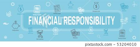 Personal Finance & Responsibility Icon Set - Web 53204010