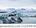 Icebergs on water, Jokulsarlon glacial lake, 53204838