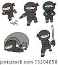 vector set of ninja 53204858