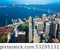 Downtown San Francisco aerial view 53205132