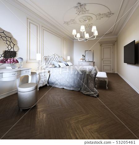 Bedroom Interior Design In A Modern Classic Style Stock Illustration 53205461 Pixta