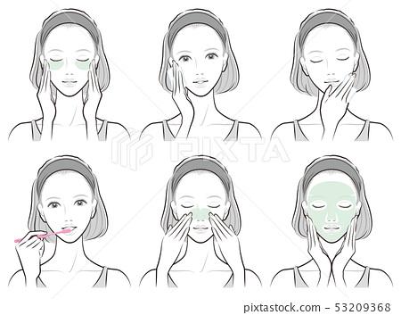 做護膚的婦女的例證 53209368