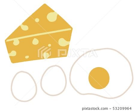 치즈와 달걀 53209964