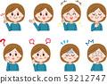 女性的面部表情集 53212747