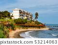 seaside promenade in La Cala De Mijas, Costa del 53214063
