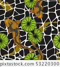 Koi fish with lotus leaf seamless pattern  53220300
