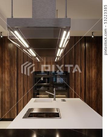 Kitchen design hood and built-in kitchen 53223385